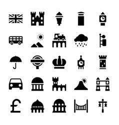 London landmarks glyph vector