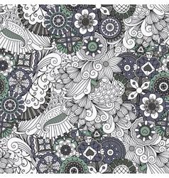 Lovely symmetrical full frame background on white vector