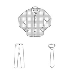 man and clothing icon set vector image