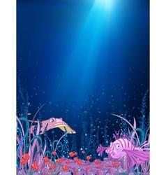 ocean underwater cartoon vector image