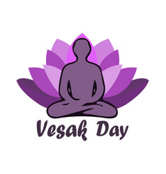 Of vesak day or buddha purnima vector