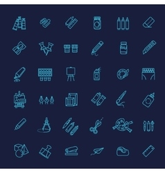 Outline web icon set - drawing tools vector
