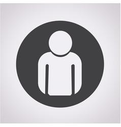 person icon user sign icon vector image