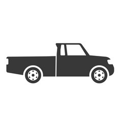 pickup black icon delivery and automobile emblem vector image