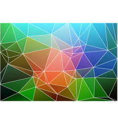 pink green blue geometric background with mesh vector image