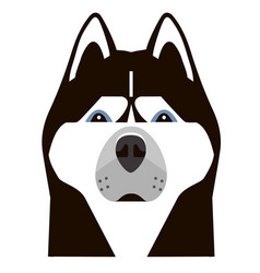 portrait of a husky in a minimalist style vector image vector image