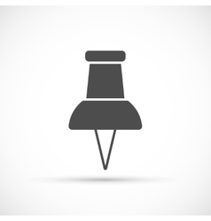 Push pin icon vector