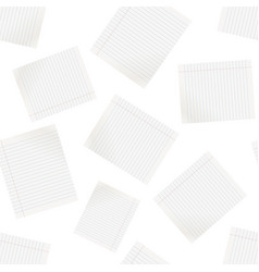 realistic line paper sheet seamless pattern vector image