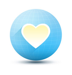 round icon with heart vector image