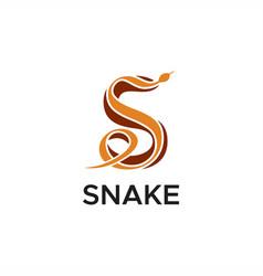 s snake logo vector image