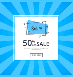 sale deals for you 50 off sale with text vector image