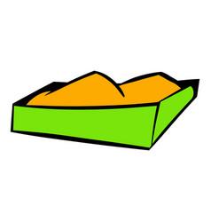 Sandbox on a playground icon icon cartoon vector