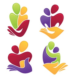 save family vector image