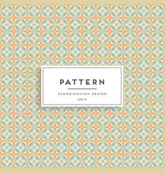 scandinavian seamless pattern fabric print design vector image