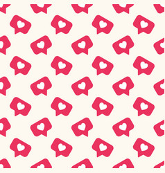 Seamless geometric pattern with bright red vector