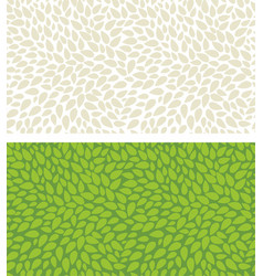 seamless leaves pattern isolated background vector image