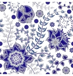seamless vintage floral pattern Stylized vector image