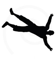 Senior climber man silhouette vector