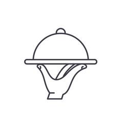 service line icon concept service linear vector image