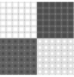 set black and white seamless patterns with tile vector image