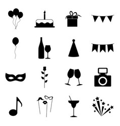 set party icons vector image