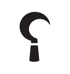 Sickle blade icon design black scysilhouette vector