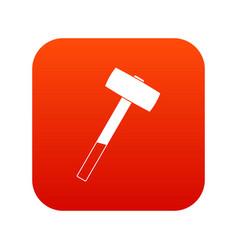 Sledgehammer icon digital red vector