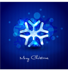 snow flake design vector image