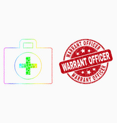 spectrum pixel medical case icon and grunge vector image