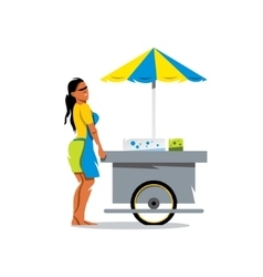 Street Food Store Cartoon vector image