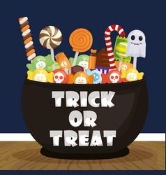 Trick or treat - happy halloween vector