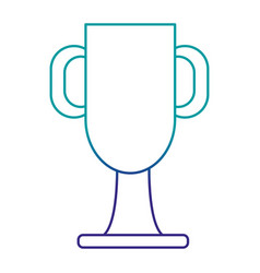 trophy cup championship award vector image