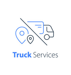 truck delivery transportation company vector image