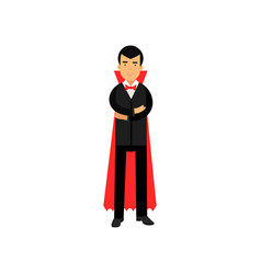 Vampire character posing with folded hands count vector