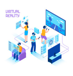 Virtual reality isometric composition vector
