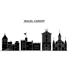 Wales cardiff architecture city skyline vector