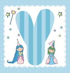 y alphabet letter for kids vector image