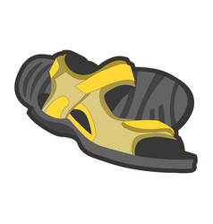 Yellow male sandals vector