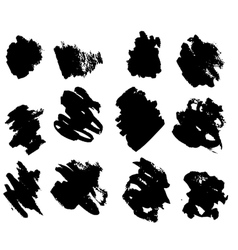 black ink blots vector image
