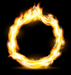 Burning ring stock vector