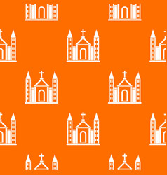 christian catholic church building pattern vector image vector image