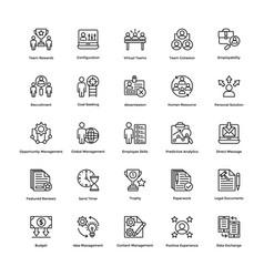 Project management line icons set 4 vector