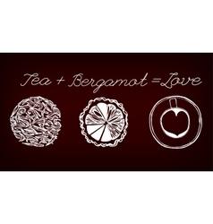 Tea time concept vector image