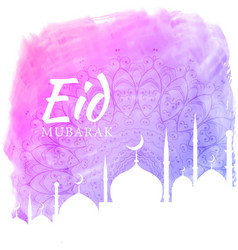 watercolor background for eid festival season vector image