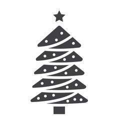 christmas tree glyph icon new year and christmas vector image vector image