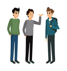 group male talking casual design vector image