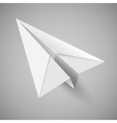 origami paper airplane vector image vector image