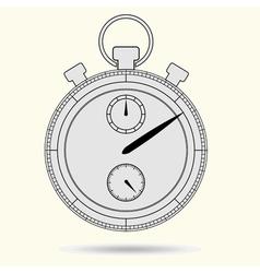 Stopwatch model gray vector image