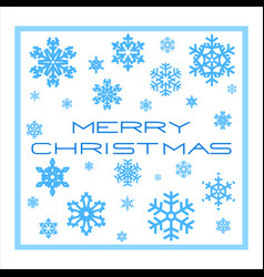 template christmas card vector image