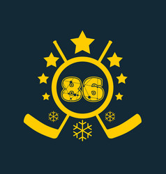 86 number vector image vector image